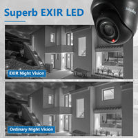 SANNCE 1080P Home Video Security System with 1080P DVR with 6 Cameras Style A - 0TB HDD