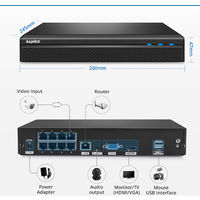 SANNCE 1080P FHD PoE Network Video Security System 8CH 5MP Surveillance NVR with H.264+ Video Compression 4*1080P HD Weatherproof Cameras with Smart IR LEDs, APP Push Alert, Remote Access – without HDD