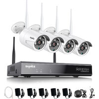 SANNCE 3MP Wireless WiFi Security Camera System with 4 WIFI Cameras – without HDD
