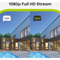 SANNCE 16CH 1080p Security Camera System 5 in 1 CCTV DVR Recorder Wired Cameras 100 ft Night Vision Videosurveillance Kits For Home Outdoor Indoor 12 Cameras - No Hard Drive