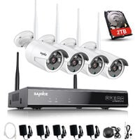 SANNCE 3MP Wireless WiFi Security Camera System with 4 WIFI Cameras – with 2TB HDD