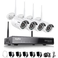 CCTV kit SANNCE 1080P Wireless WiFi Security Camera System with 4 WIFI Cameras – without HDD