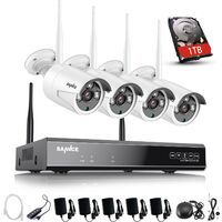 CCTV kit SANNCE 1080P Wireless WiFi Security Camera System with 4 WIFI Cameras – with 1TB HDD
