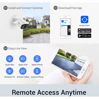 ANNKE 4K Ultra HD DVR Security Camera System with 24/7 Color Night Vision Indoor Outdoor CCTV Surveillance with Additional Lighting with 4 Cameras without HDD