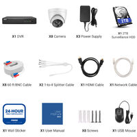 ANNKE 5MP Super HD 5-in-1 8CH DVR Security Camera System with 8 * 5MP Outdoor PIR Cameras - 2TB Hard Drive Included
