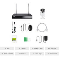SANNCE 8CH 3MP Wireless Video Security System 5MP HDMI NVR with 8PCS 3MP Wifi Weatherproof IP Camera Surveillance Kit Outdoor 100ft 30m Night Vision - No Hard Drive