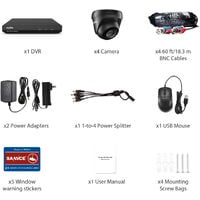 SANNCE 8CH 1080p Security Camera System 5-in-1 CCTV DVR Recorder with 4 pcs Waterproof Wired Surveillance Cameras – without HDD