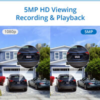 SANNCE 4 Channel 5MP XPoE NVR Network Video Security System For Home Outdoor CCTV Kits – 1TB HDD