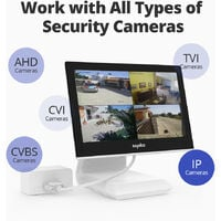 SANNCE 4 Channel Supports ONVIF LCD Monitor DVR CCTV Kits With 1080P Cameras Security Surveillance System For Outdoor 2 Cameras - No Hard Drive