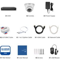 ANNKE 4 Channel Wired Security Camera Systems 5MP 5 in 1 DVR with 1080P HD Cameras Easy Installation For Home Outddor CCTV Kits 2 Cameras - No HDD