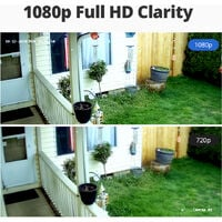 Sannce 4CH 1080P CCTV DVR Recorder with 2 PCS Day Night Weatherproof Security Cameras System Hybrid Video Recorder - No Hard Drive Disk