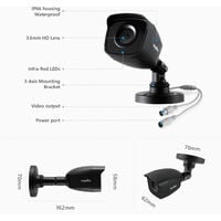 SANNCE 8CH CCTV DVR 8Pcs 1080P Home Outdoor Weatherproof Night Vision Bullet Camera Security - 2TB Hard Drive Disk