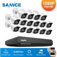 SANNCE 16CH 1080P HD Security System With 16 Cameras - No Hard Drive Disk