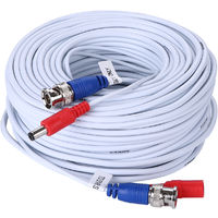 SANNCE 100 feet Video Pre-made Power Cables All-in-One Security Camera Extension Cables for CCTV DVR Home Surveillance System White – 4 packs