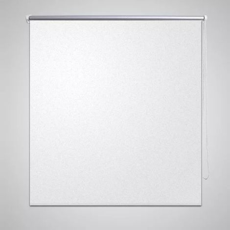 Hommoo Persiana estor opaca enrollable blanco 100x175 cm