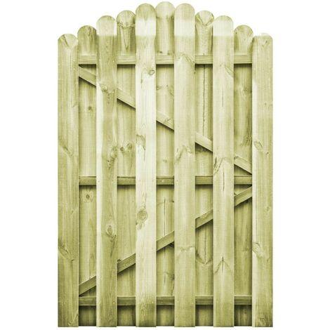 Hommoo Puerta de jardín madera de pino impregnada 100x150 cm