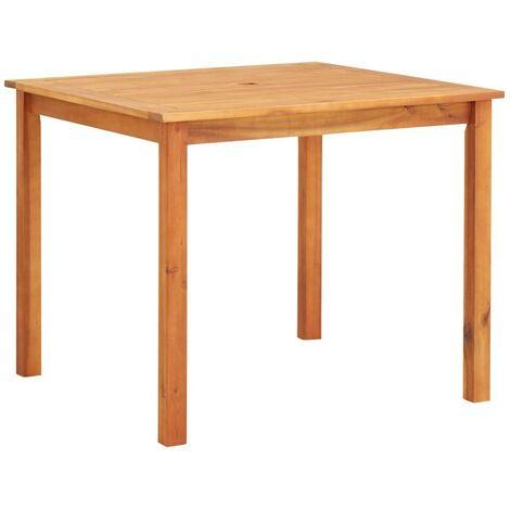 Hommoo Mesa de jardín madera maciza de acacia 90x90x74 cm