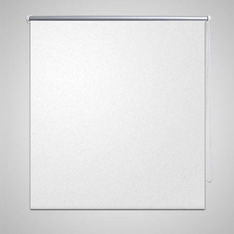 Hommoo Persiana estor opaco enrollable blanco 140x175 cm