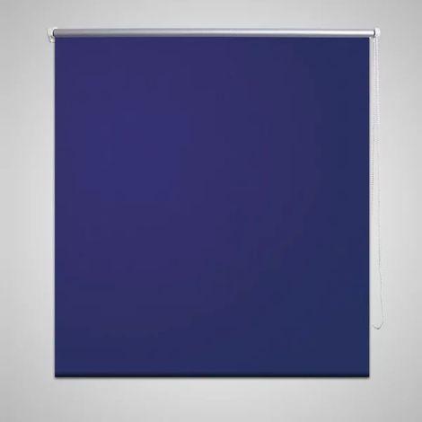 Hommoo Persiana estor opaco enrollable azul marino 160x175 cm