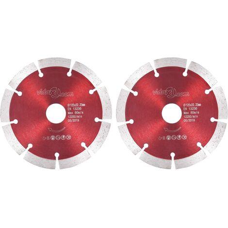 Hommoo Discos de corte de diamante 2 unidades acero 125 mm