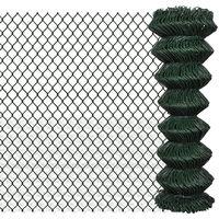 Hommoo Valla de tela metálica acero galvanizado verde 1,25x25 m