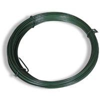 Hommoo Valla tela metálica con postes acero galvanizado verde 0,8x15m
