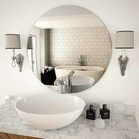 Hommoo Espejo de pared redondo vidrio 70 cm