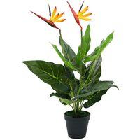 Hommoo Planta strelitzia reginae ave del paraíso artificial 66 cm