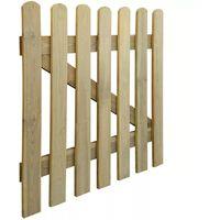 Hommoo Puerta de valla de jardín madera 100x100 cm