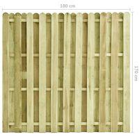 Hommoo Panel de valla de madera de pino impregnada 180x170 cm
