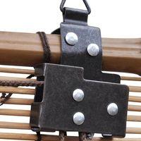 Hommoo Persiana enrollable de bambú marrón 100x220 cm