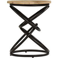 Hommoo Mesa auxiliar de madera maciza de mango 40x50 cm