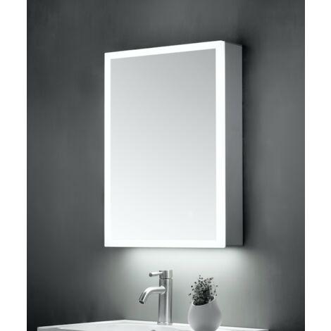 Keenware KBM-102 LED Bathroom Mirror Cabinet With Shaver Socket; 700x500mm