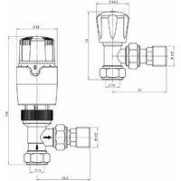 Keenware KRA-008 Thermostatic Towel Rail & Radiator Angled Valves