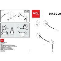 Bath+ Diabolo - Toallero Cromo-Rojo