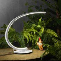 Abat-jour led gea luce iole l 12w led 600lm 3000 ° k dimmable aluminium blanc intérieur moderne