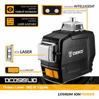Niveau Laser 12 Lignes 360° avec trépied 120cm - Deko