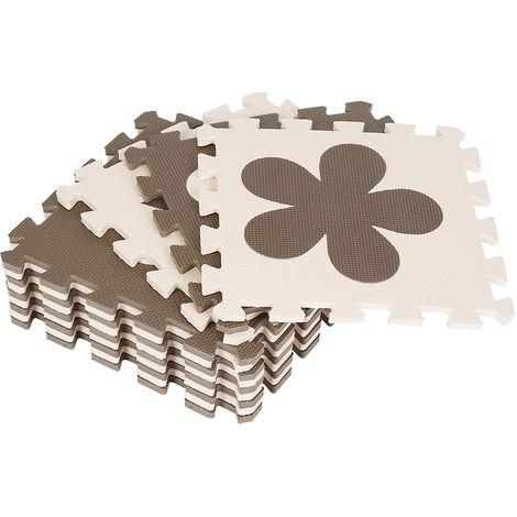 12 pièces de tapis eva pour enfants Mickey aime les pétales de patte de chien étoile à cinq branches