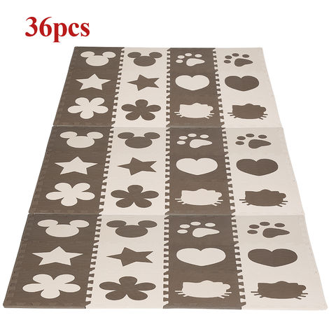 36 pièces de tapis eva pour enfants Mickey aime les pétales de patte de chien étoile à cinq branches