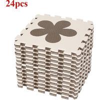 24 pièces de tapis eva pour enfants Mickey aime les pétales de patte de chien étoile à cinq branches