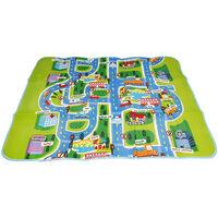DazHom® Tapis rampant pour bébé en coton PE de 1,6 m * 1,3 m * 0,3 cm Carte du trafic de la ville