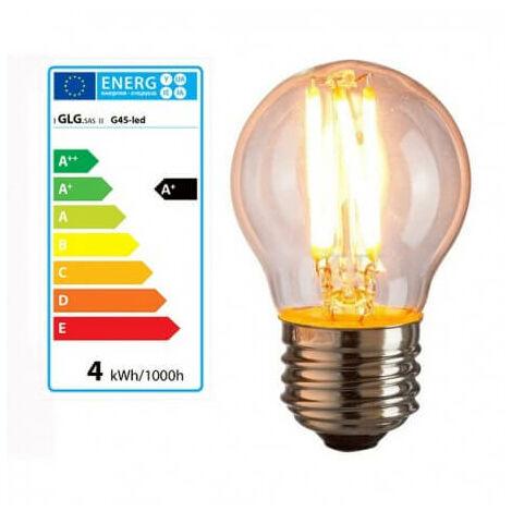 Bombilla E27 G45 4w LED estilo vintage lámpara de Edison
