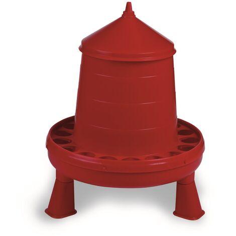 Gaun - Mangeoire avec pieds - Poules (4 kg) (Rouge)