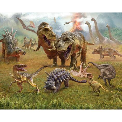 Papier peint mural Walltastic Pays des dinosaures 305X244 CM