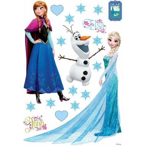Stickers Anna Elsa & Olaf La Reine des Neiges Disney