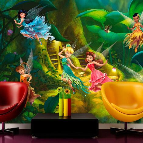 Papier peint XXL intisse L'Arbre à poussière de fées Disney Fairies 360X255 CM
