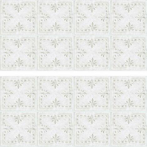 Stickers mosaïque blanc carré