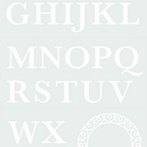 Stickers monogramme Majuscule et cercle décoratif blanc