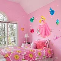 Sticker géant la Belle au Bois Dormant & les 3 fées Disney