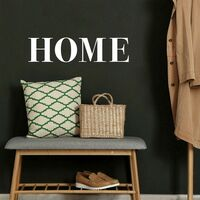 Stickers HOME en lettres capitales blanches